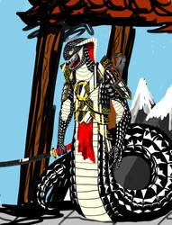 Lightly battered tsaesci warrior. by SanguineSoupKitchen