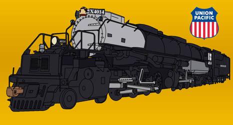 Union Pacific Big Boy 4014 by RailToonBronyFan3751