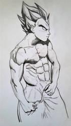 Saiyan Sketch by Kuato-Lives