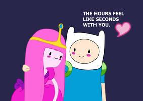 Finn and Bubblegum by Teopaca