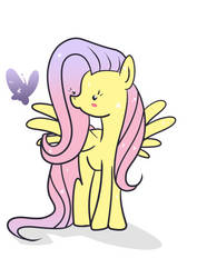 Kawaii Fluttershy by Teopaca