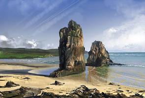 Beach study 2 by gunsbins