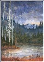 Storm over Diamond Lake by tuningmyheart