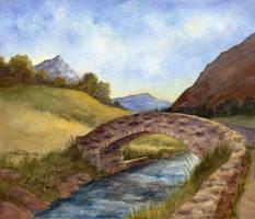 Sunlit Bridge by tuningmyheart