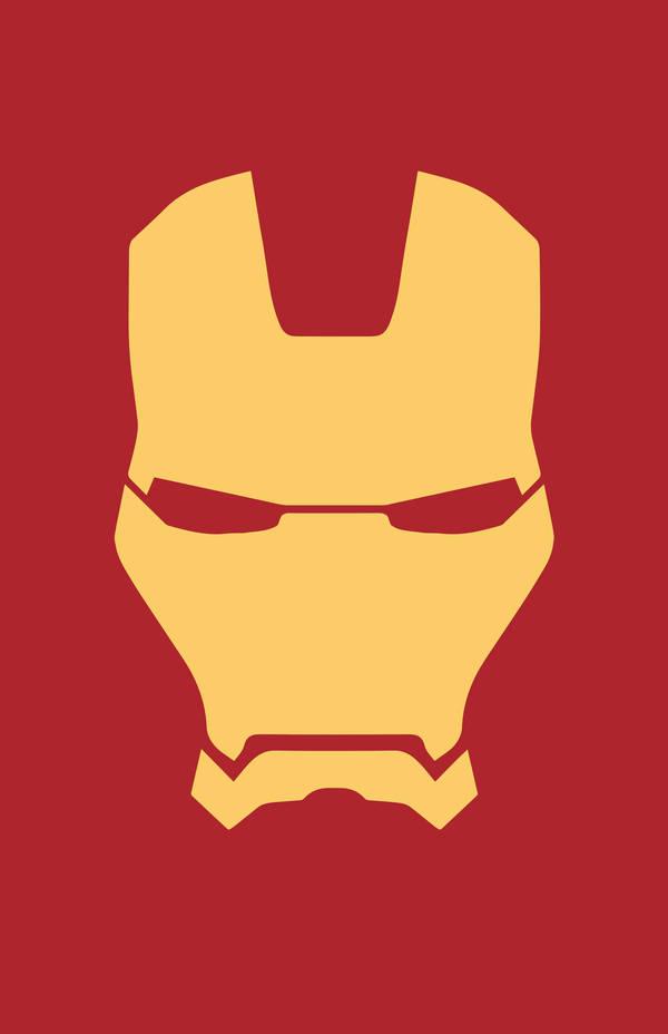 Iron Man Minimalist Helmet Design by MinimalistHeroes