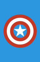 Captain America Minimalist Weapon Design by MinimalistHeroes