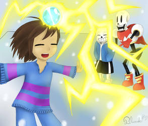 Undertale  -  The Electric Maze by Bluecake80
