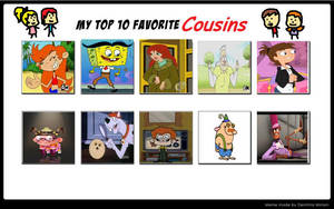 My Top 10 Favorite Cousins by Toongirl18
