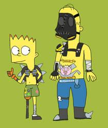 Halloween Art Jam '17: Bart and Homer by Toongirl18