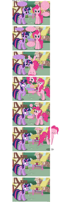 Pinkie Pie vs. the fourth wall by TheLastGherkin