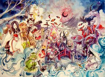 Yokais by sanoe