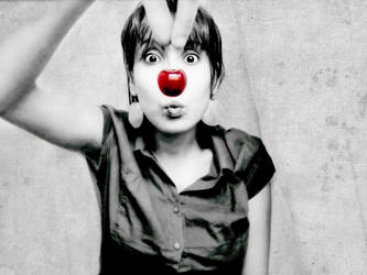 Cherry-clown bw by italia