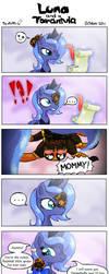 Luna and a tarantula by alfa995