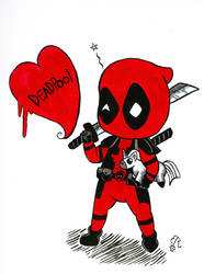 Dead pool Chibi doodle by Piddies0709