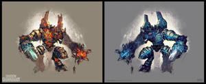 Shadow Guardian Golem by Odewill