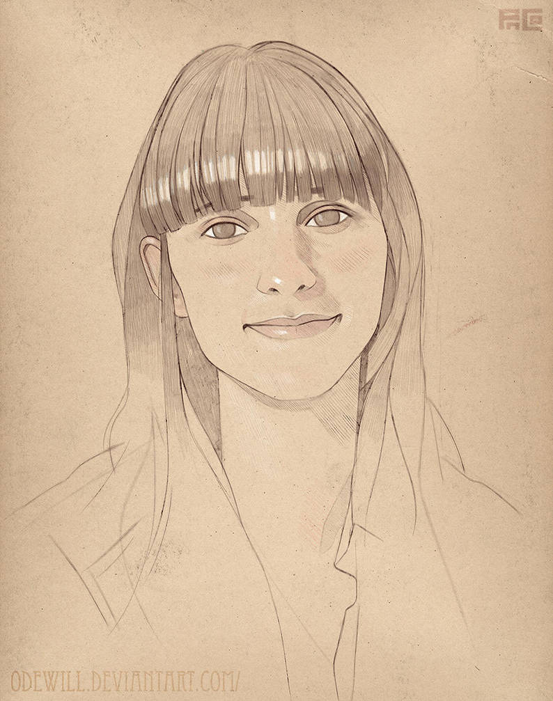 Elvira Burdiel Portrait by Odewill