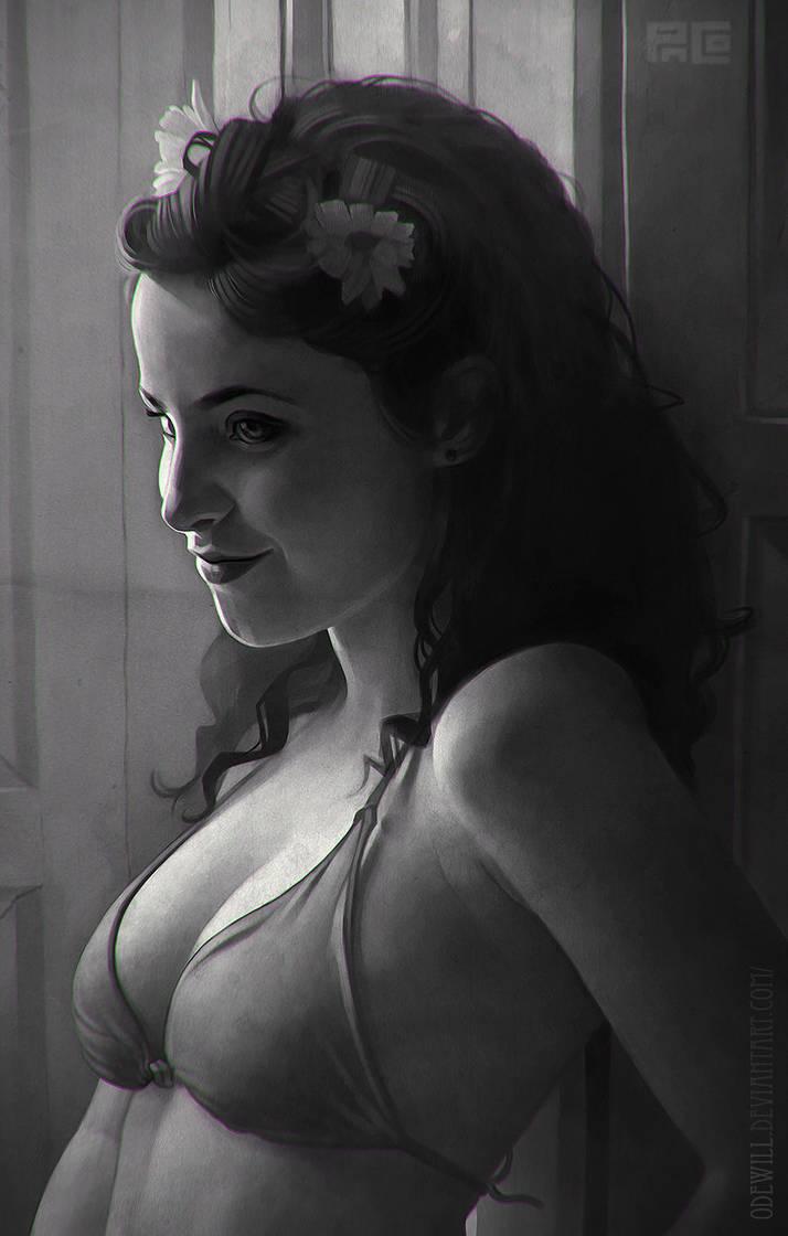 Beatriz Olivares Portrait by Odewill