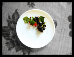 Berries on a saucer by Wavs