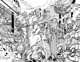When Kaiju Worlds Collide 4 by Deadpoolrus