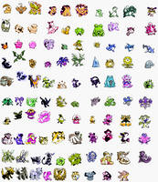 Pokemon Gold Demo Shiny sprites by louiehit123