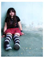 red skirt by bingevil-stock