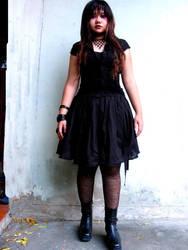the black dress by bingevil-stock