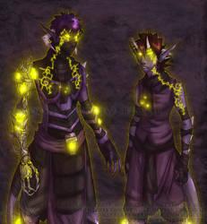 Parias and Artemis by MoonstalkerWerewolf