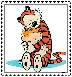 Calvin and Hobbes Stamp by ForgetfulRainn