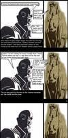 Dwight VS Hellboy by ForgetfulRainn