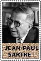 Jean-Paul Sartre Stamp by ForgetfulRainn