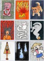 Yokai Cards set 1 by Cattype