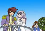 Takumi and Mashiro Wedding Coloured by HowlingSilverWolf
