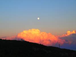 Clouds Moon Sunset by Sugar-Sugar-Bee