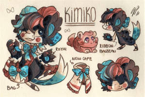 Kimiko Ref. Sheet [Commission] by Baraayas