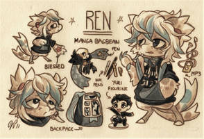 Ren Ref. Sheet [Commission] by Baraayas