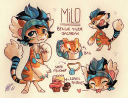 Milo Ref. Sheet [Commission] by Baraayas