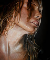 Water on her face by PiskunovSergey