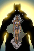 Black Panther and Storm by GreeneLantern