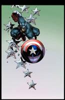 Captain America coloring by GreeneLantern