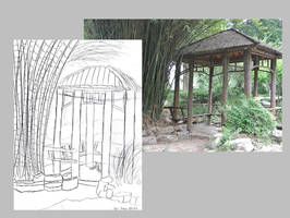 Scenery Sketch - Gazebo 1 by AnimeVeteran