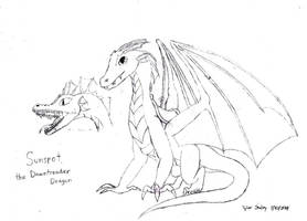 HTTYD Dragon OC - Sunspot, the Dawntreader Dragon by AnimeVeteran
