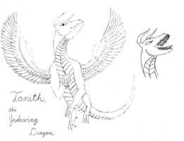 HTTYD Dragon OC - Tanith, the Jadewing Dragon by AnimeVeteran