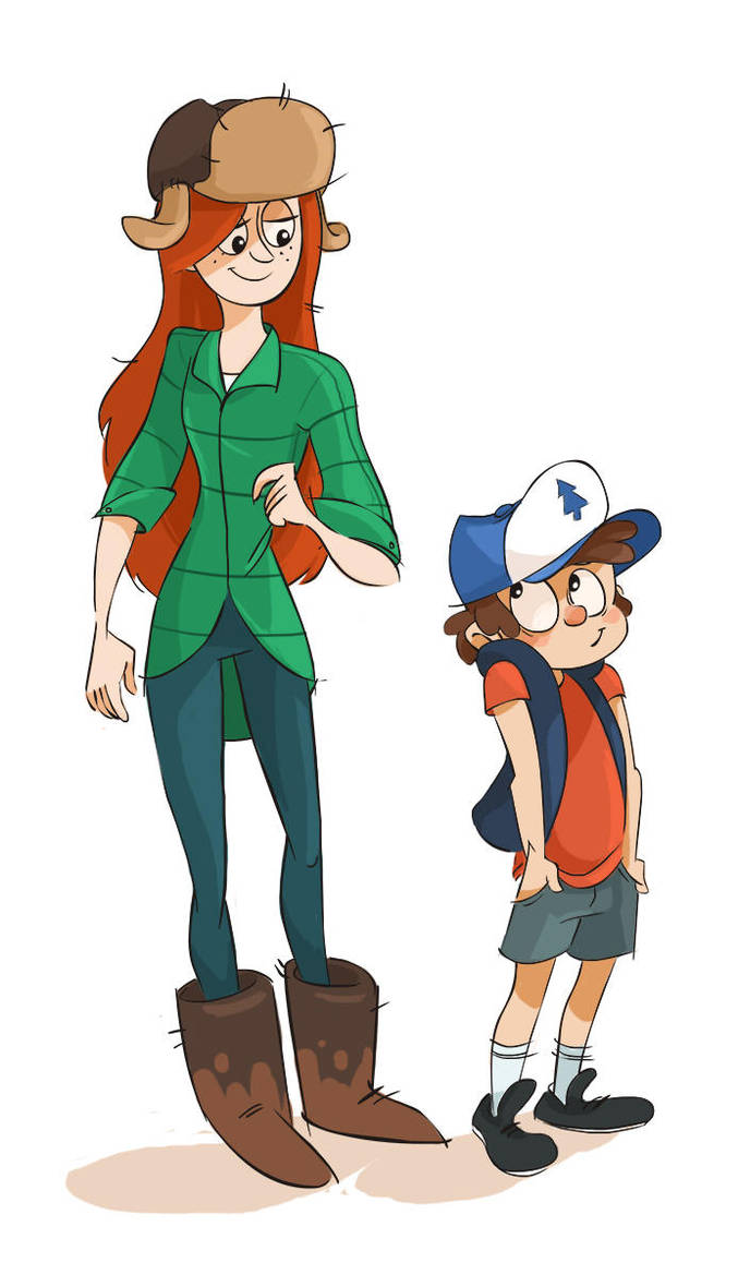 Wendy and Dipper by Ptirat