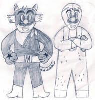 El Mario and Lucha Luigi Libre by ZeoLightning