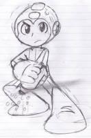 MegaMan Sketch by ZeoLightning