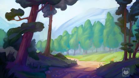 Summer forest by Nieris