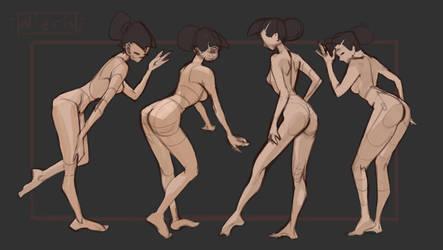 Gesture Basic poses (Bent down) by Nieris