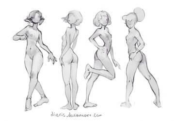 Basic poses(Curve) by Nieris