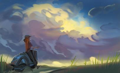 Sky-sketch by Nieris