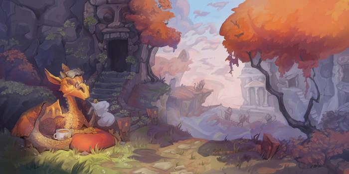 Autumn dragon by Nieris